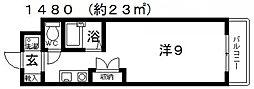 レーベンス・ラウム25[201号室号室]の間取り