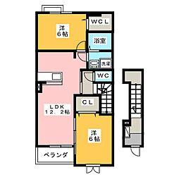マーベラス スクエア II[2階]の間取り
