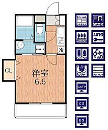 S・EファーストII[5階]の間取り