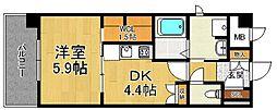有恒五番館[3階]の間取り