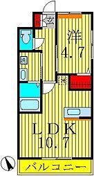 ロイヤル パピヨン[2階]の間取り