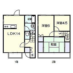 [テラスハウス] 千葉県柏市南逆井4丁目 の賃貸【/】の間取り