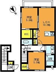 エーデルメゾンIII[2階]の間取り