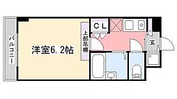 ラ・コート・ドール津田沼[307号室]の間取り