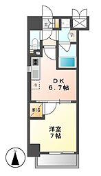 MX−1 エムエックスワン[7階]の間取り