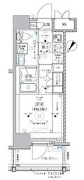 JR東海道本線 川崎駅 徒歩8分の賃貸マンション 14階1Kの間取り