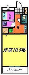 ヘレンハウス[103号室]の間取り