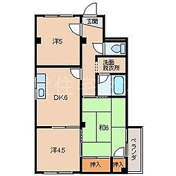 マンション木原[2階]の間取り