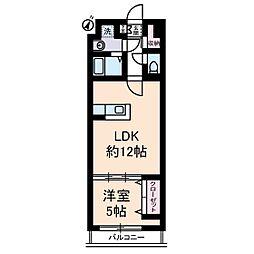 YAYOI COURT[6階]の間取り
