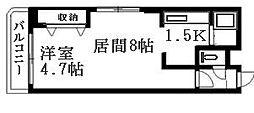北海道札幌市豊平区月寒中央通8丁目の賃貸マンションの間取り