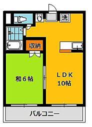 栃木県宇都宮市雀の宮5の賃貸マンションの間取り