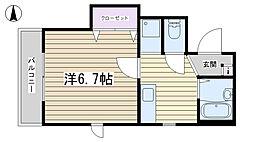 東京都北区東田端1丁目の賃貸マンションの間取り