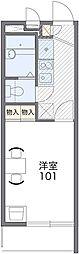 Osaka Metro谷町線 都島駅 徒歩4分の賃貸マンション 2階1Kの間取り
