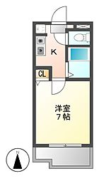 ベルクラント高田[3階]の間取り