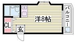 兵庫県神戸市灘区泉通2丁目の賃貸マンションの間取り