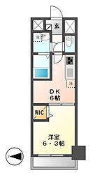 メイボーテセラ(MEIBOU TESERA)[5階]の間取り