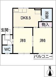 ハイツAOYAMA[2階]の間取り