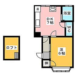 サンチェリヰ大野樹[1階]の間取り