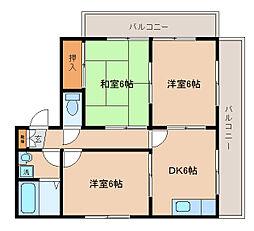 兵庫県神戸市長田区宮川町9丁目の賃貸アパートの間取り