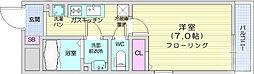 リブリ・新寺 1階1Kの間取り