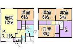 貸家(4−15) 4SLDKの間取り