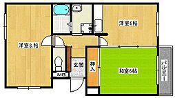 シャトーグロワール[4階]の間取り