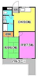 フォーラム石神井[4階]の間取り