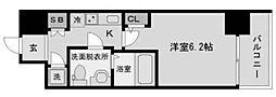 アドバンス西梅田ラシュレ[7階]の間取り