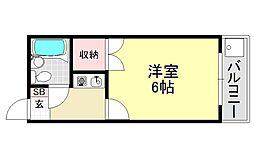 アリーナツムラ[4O3号室号室]の間取り