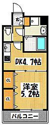 大阪府大阪市鶴見区鶴見5丁目の賃貸マンションの間取り