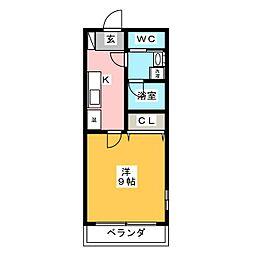 ラ・フォート桜井[4階]の間取り
