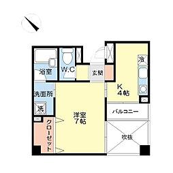 第5三先ハウス[0401号室]の間取り