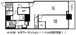 アーバンライフ神戸三宮ザ・タワー[7階]の間取り