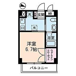 ドゥーシエル桜新町[3階]の間取り