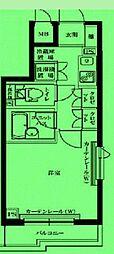 東京都品川区西品川の賃貸マンションの間取り
