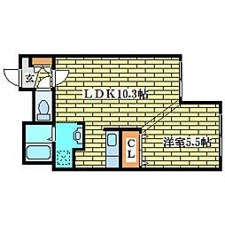 プリムラK1[3階]の間取り