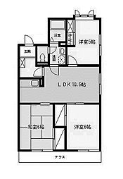 神奈川県相模原市南区上鶴間2丁目の賃貸アパートの間取り