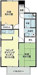 香川県高松市亀田町の賃貸マンションの間取り