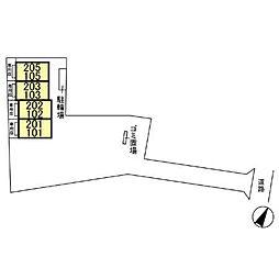 ベルデュール参番館[202号室]の外観