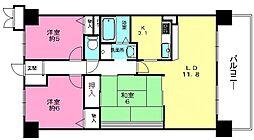 滋賀県湖南市針の賃貸マンションの間取り