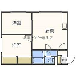 ライフゾーン太平[2階]の間取り