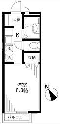 メゾンソレジオ[2階号室]の間取り