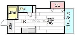 東栄物産ビル17[3階]の間取り