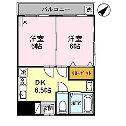 セジュール水賀池[3階]の間取り