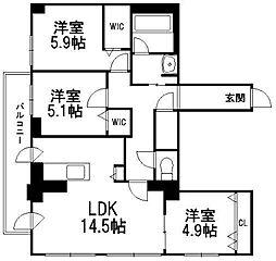 レジデンス709C[4階]の間取り