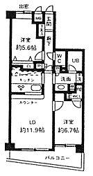 東京都渋谷区南平台町の賃貸マンションの間取り