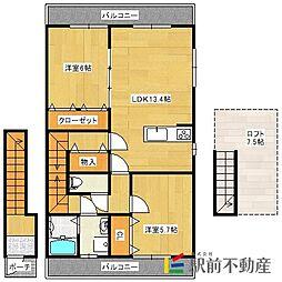 アパートメント佐賀大和[202号室]の間取り