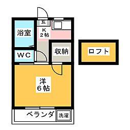 リトルハイム花尻 57号館[4階]の間取り