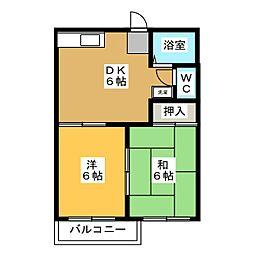 タウニィサンフラワ[2階]の間取り
