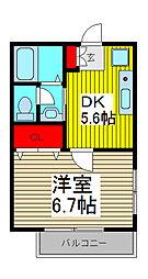 杉村コーポ[2階]の間取り